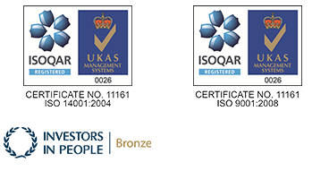 Riba Logo, UKAS ISOCAR Logo, Investors in People Logo