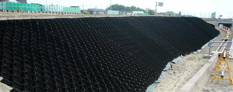 Geosynthetics Cellweb Slope Stabilization 2 Geosynthetics